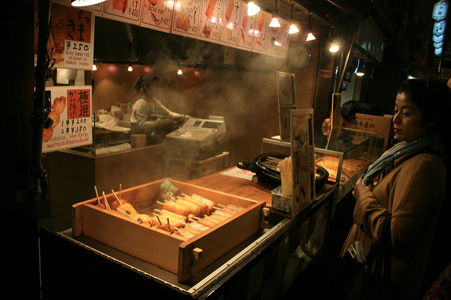 Nishiki is also a street food lover's paradise. The street is often interspersed with aromatic smells of freshly cooking snacks. (Craige Moore/flickr)