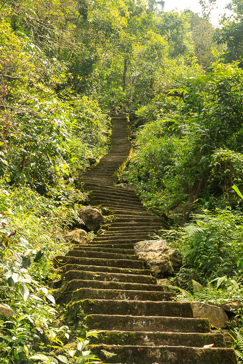 The long steep way down (and then up) !!