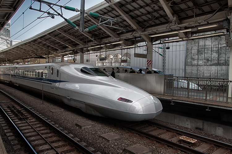 "You can use your JR Rail Pass to ride ""bullet"" trains like this one"