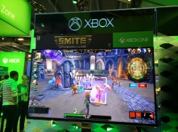 Smite had their Xbox One alpha available for play.