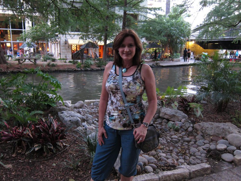 Kathy on the San Antonio River Walk