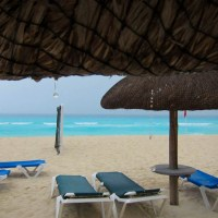 Cancun Beach Rain