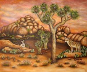 Kathy's Painting of Joshua Tree National Park