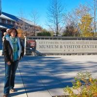 Kathy at the Gettysburg Museum