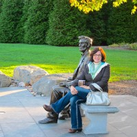 Kathy with Abe