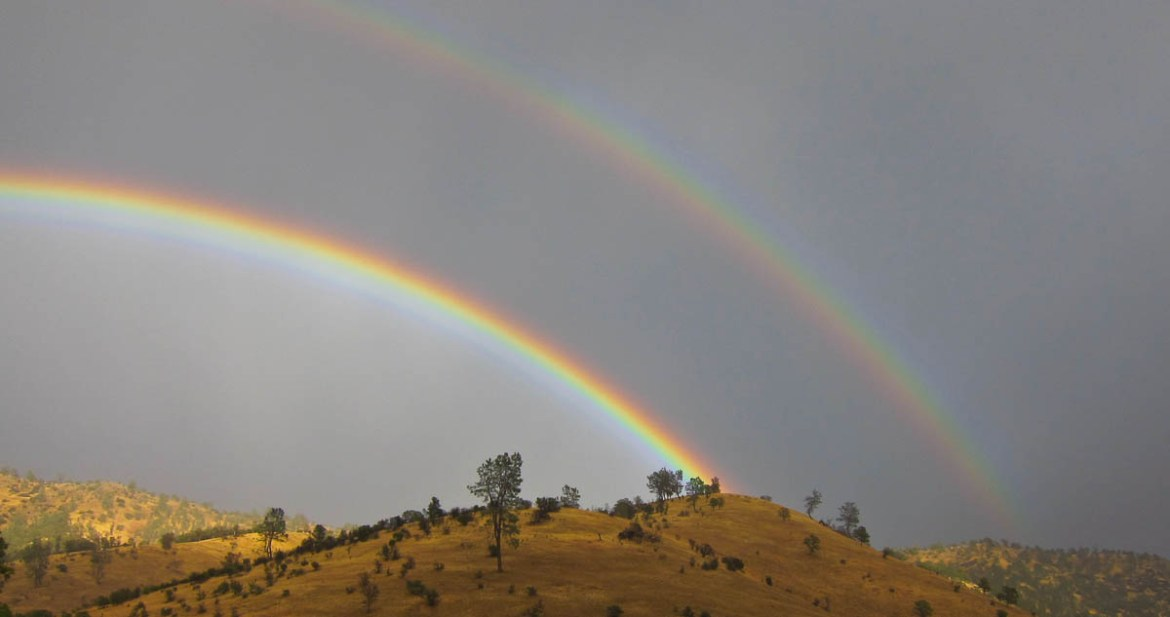 We saw these double rainbows on our drive from Lassen