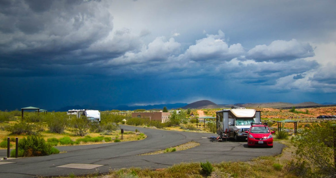 Our Sand Hollow State Park Campsite