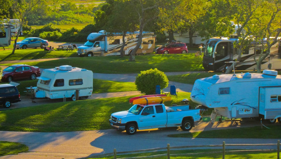An RV Village at Fisherman's Memorial State Park in RI