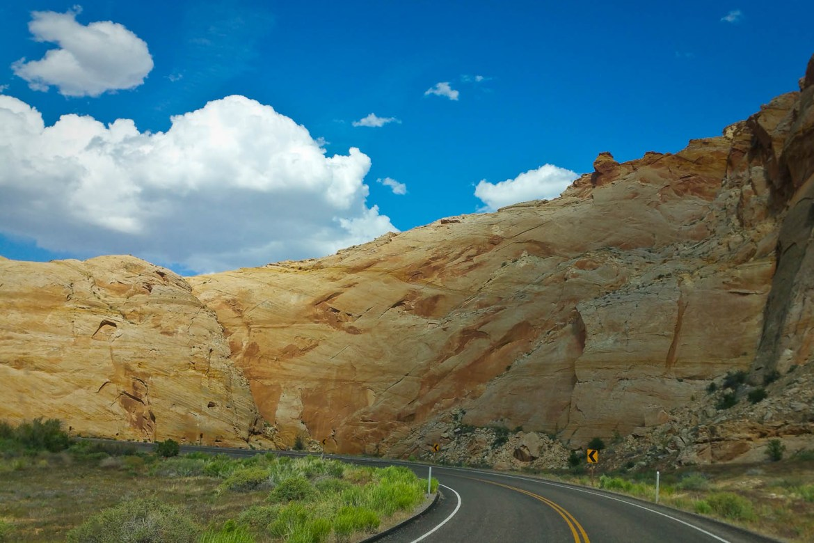 The Road East through Capitol Reef