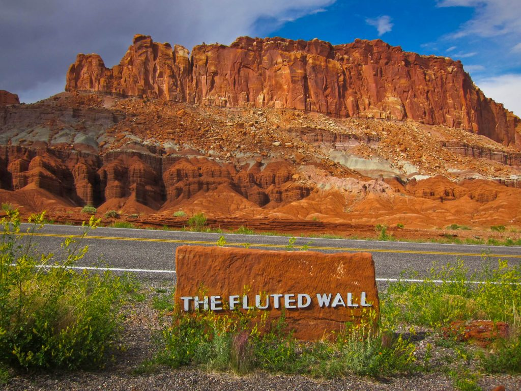 The Fluted Wall In Capitol Reef NP