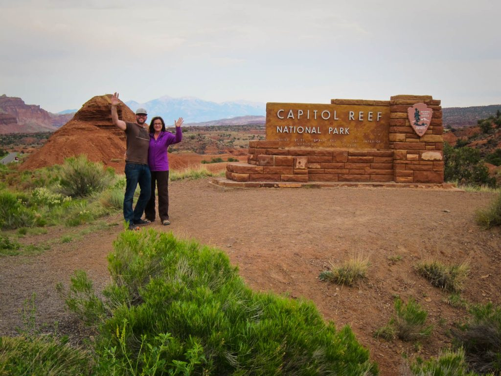 Entrance to Capitol Reef NP