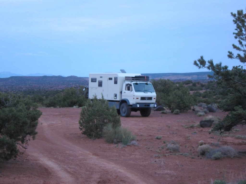 An Overlanding Rig Boondocking Nearby