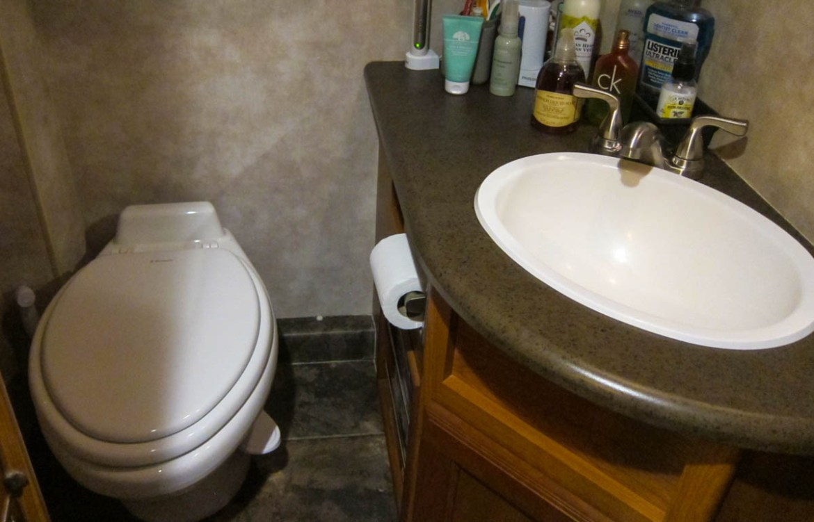 Our new RV Toilet and Bathroom Faucet