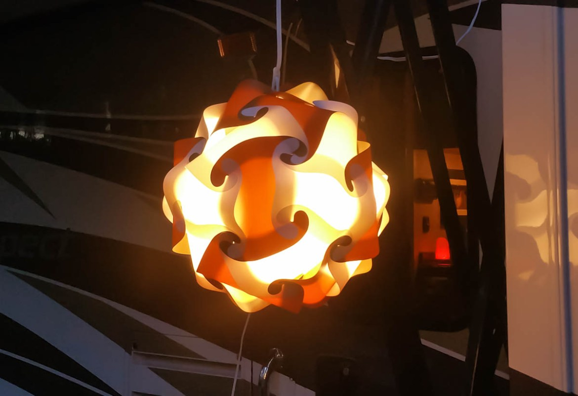 Our custom puzzle light
