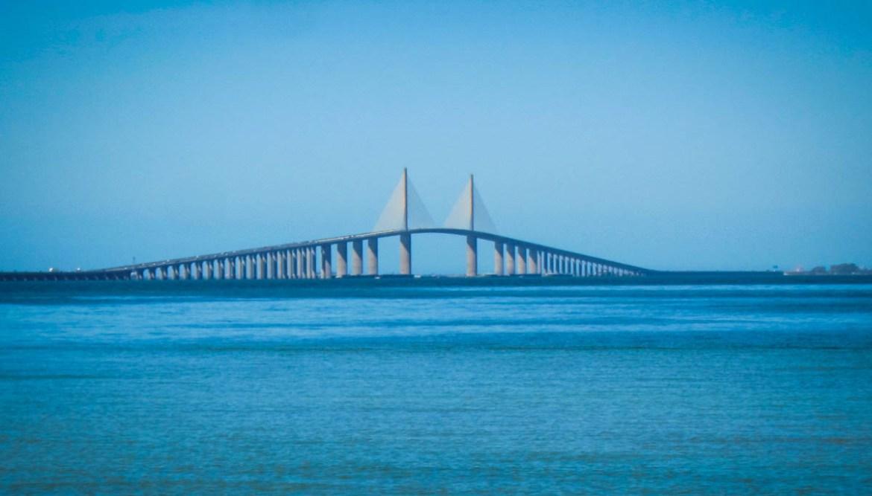 The Sunshine Skyway Bridge south of Tampa