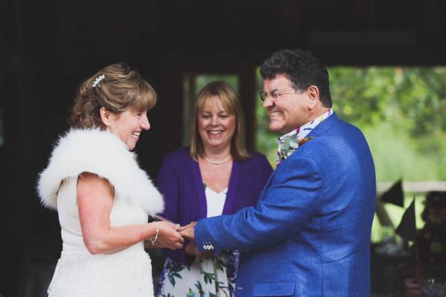 charlotte walters mrs c walters photography katie keen wedding celebrant ratsbury barn tenterden sue nigel wedding blessing handfasting ring exchange happy couple bride groom