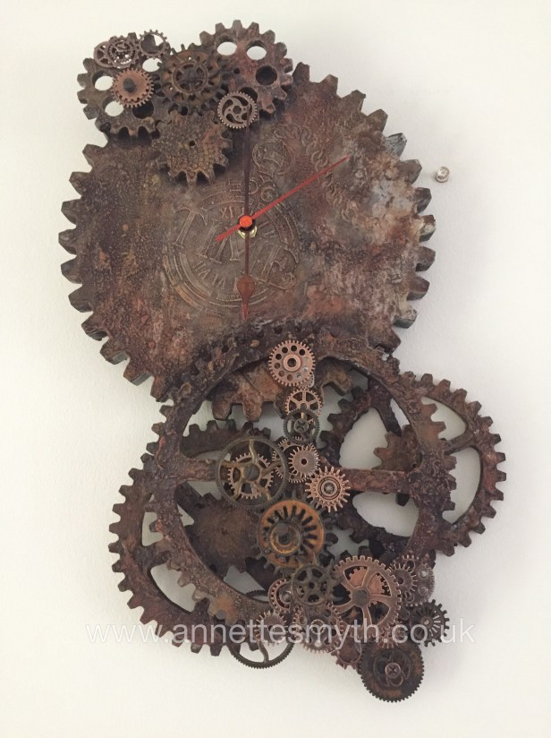 Powertex rusty cogs steampunk by Annette Smyth