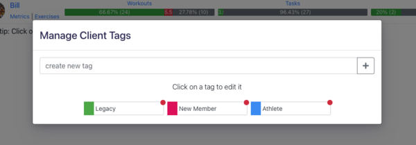 Client Tags for Personal Training Client Management