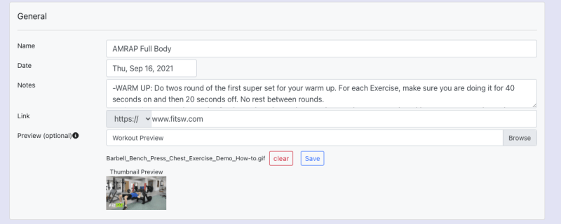 [web] Adding Gif to Workout