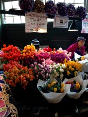 Locally grown tulips at Pike Place Market.
