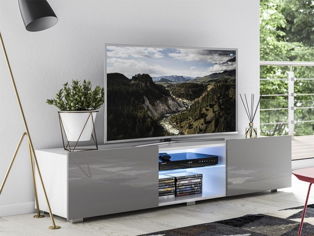 tv cabinet focus ii white grey gloss cabinet 150 cm
