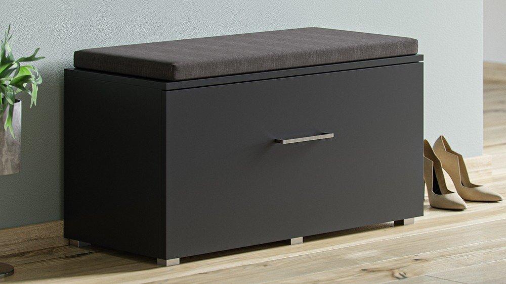 banc d entree et rangement chaussures opal noir finition metal