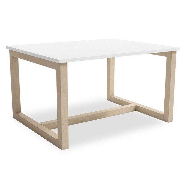 table basse scandinave lisa blanc mat 80 x 45 x 64 cm