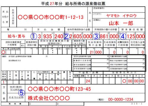 源泉徴収票例02