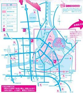 須賀川花火駐車場位置図