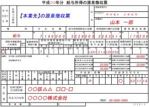 副業源泉徴収票