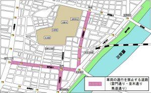 浅草寺の交通規制図02