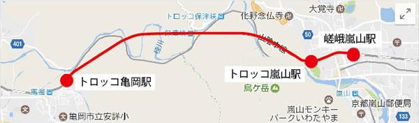 嵐山トロッコ列車