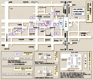 久喜提灯祭り 7月18日 巡行図