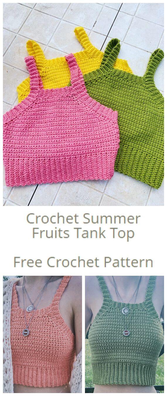 Crochet Summer Fruits Tank Top