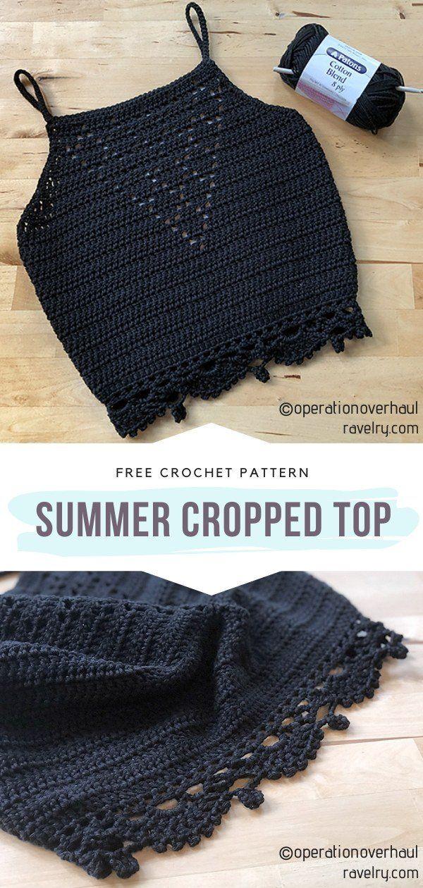 Beautiful Chic Boho Crop Tops - Free Crochet Patterns