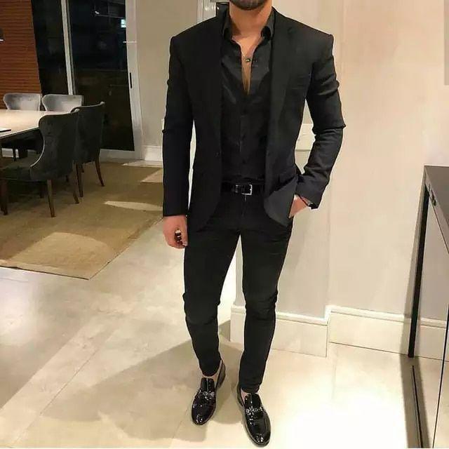 92.64US $ 15% OFF|Black Business Mens Wedding Suits Man Suits Groomsmen Wear 2Piece Custom Groom Tuxedos Classic Man Blazer Jacket Costume Homme|Suits|   - AliExpress