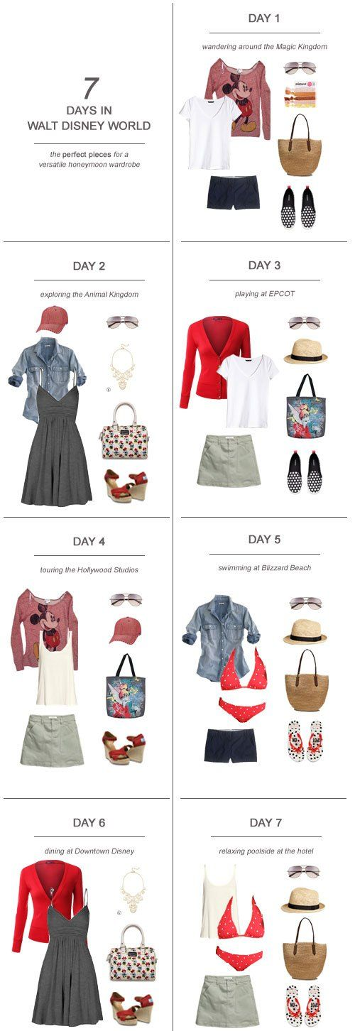 7 Days in Walt Disney World : The Perfect Pieces for a Versatile Honeymoon Wardrobe - Kiss My Tulle