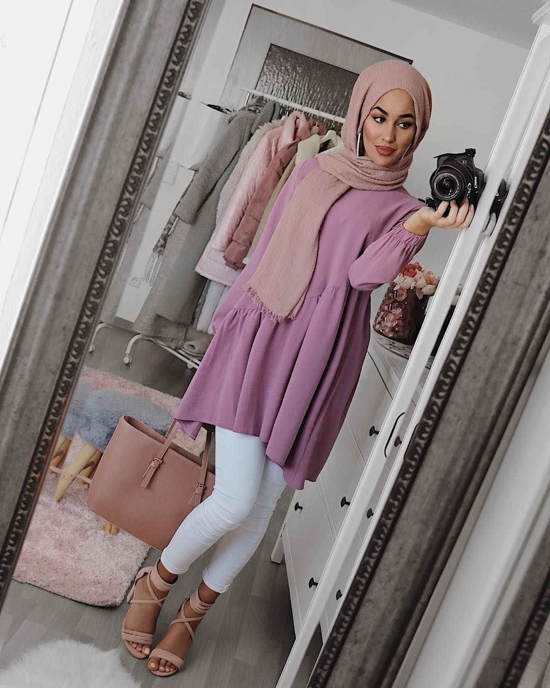 How to Slay the Dress Over Pants Trend | Hijab Fashion Inspiration