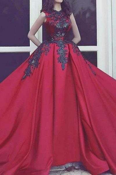 New Arrival High Neck Black Lace Burgundy Satin Bodice Prom Dresses Evening Formal Dress LD1706 - US14 / Custom color