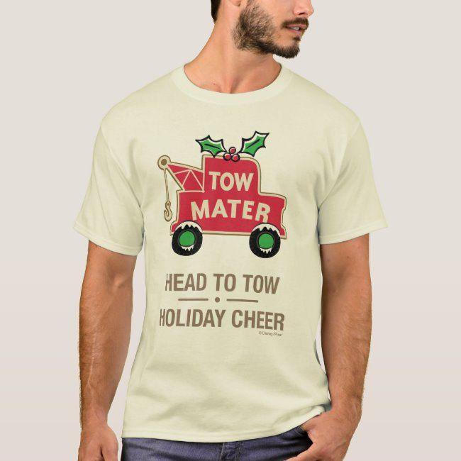 Cars   Head To Tow Holiday Cheer T-Shirt   Zazzle.com