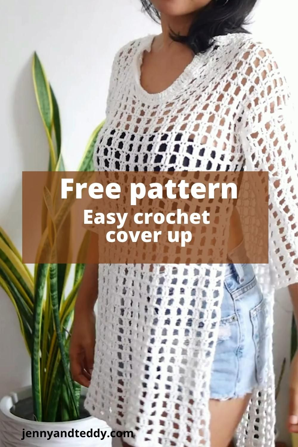 Easy crochet cover up free pattern and video tutorial