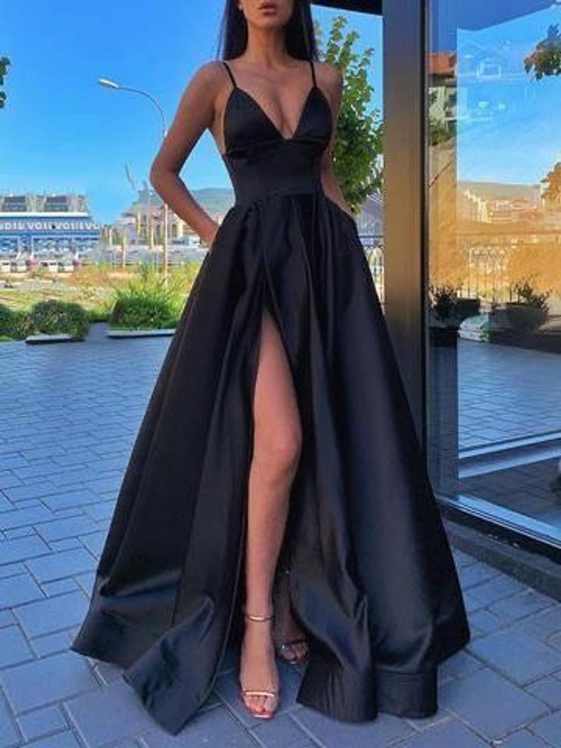 Black wedding gown, Prom dress ,wedding dress, wedding reception dress,women clothing,African wedding dress for woman,maid of honor dress