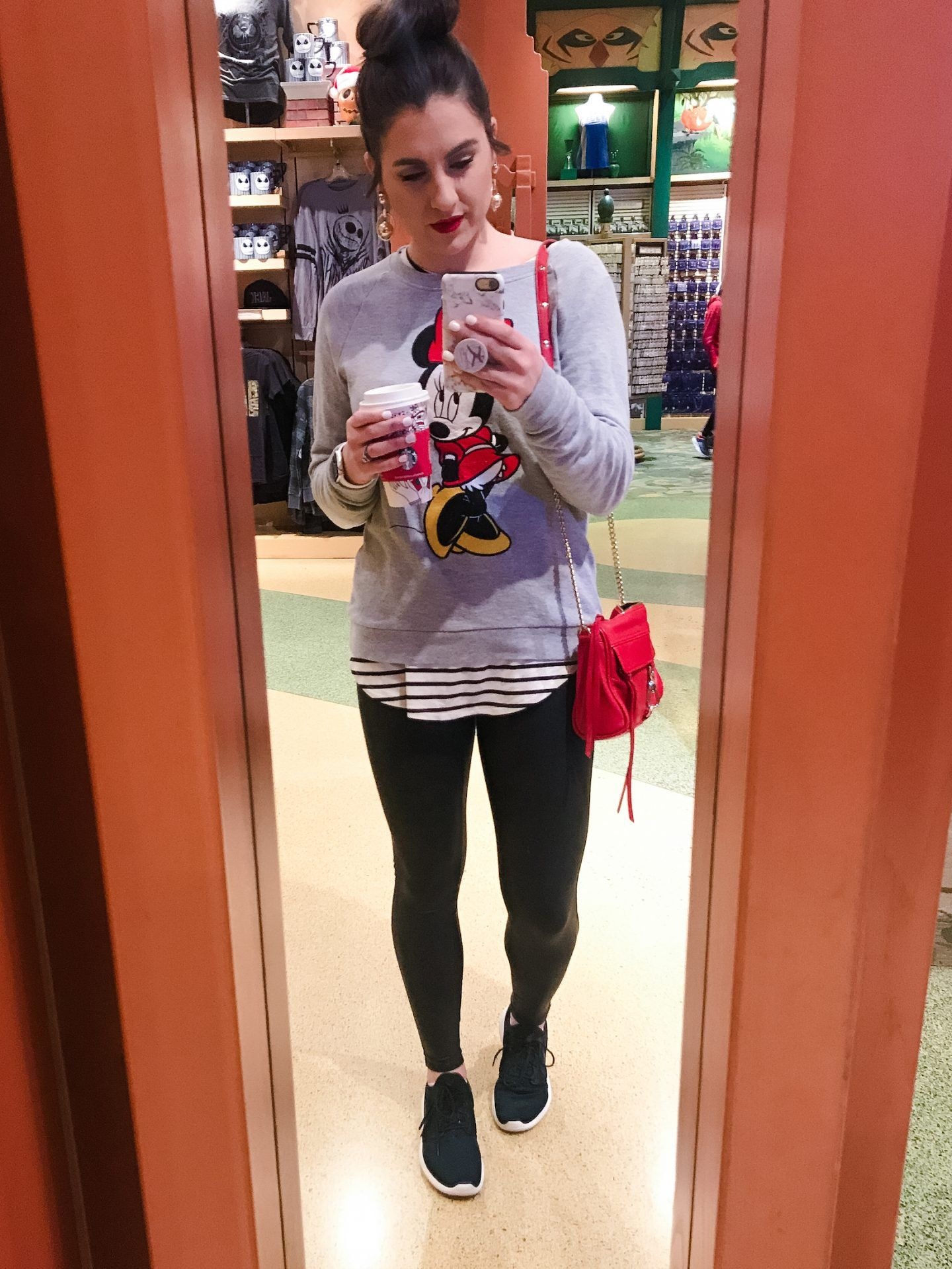 What to wear to Disneyland in January.   Topknots and Pearls