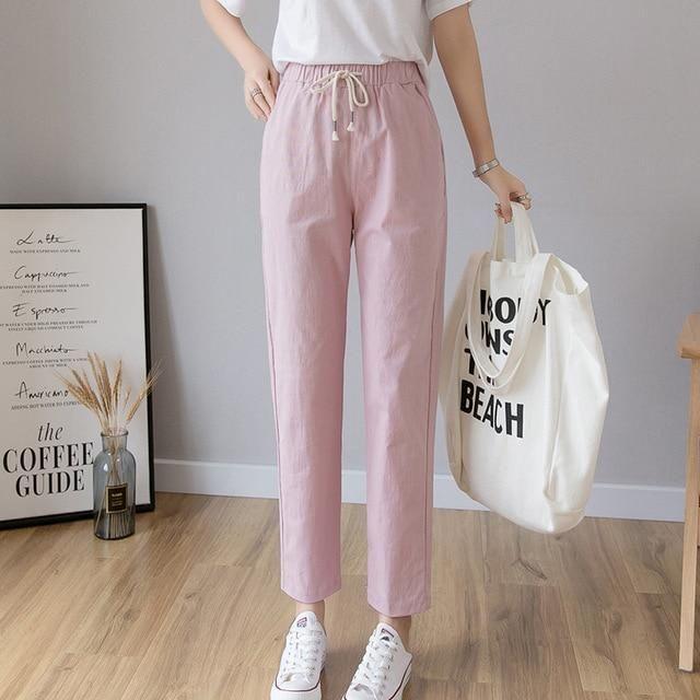 Harajuku Pants - Pink / L