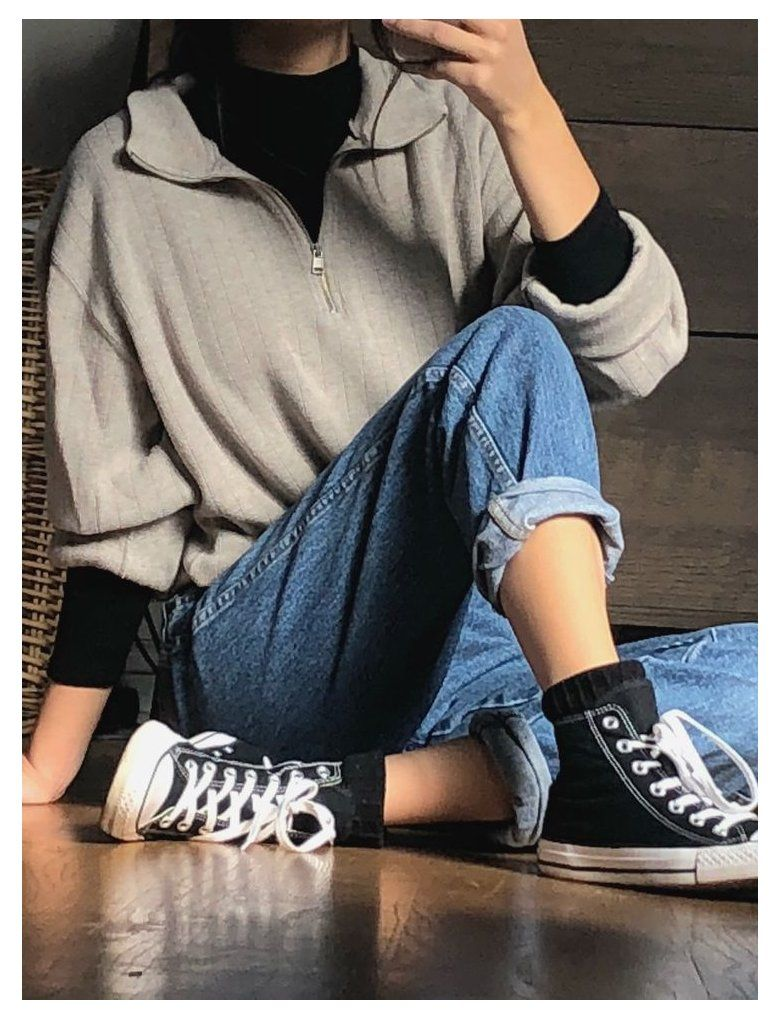 cute outfits with black jeans casual simple