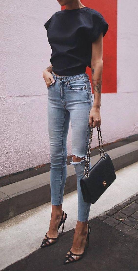 Womens Organic Olive Tab Button Darcy Denim Jeans - Green