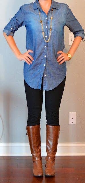 27 façons stylées de porter la chemise en jean tendance