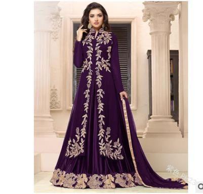 Women  Fashion Long Sleeve Dress Medieval Renaissance Vintage Bandage Lady Peasant Dresses Long Sleeve Girl Muslim Dress 5xl - purple / 5XL