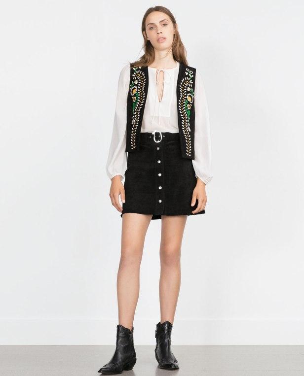Negra muy Boho en Zara