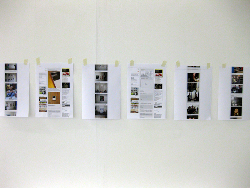 The temporary (re)emerging of a disappearing archive: context, metaphor, myth @ Nest, 2009